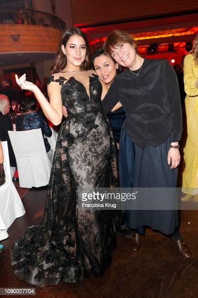 Almila Bagriacik Sandra Maischberger and Hermine Huntgeburth during the 46th German Film Ball at Hotel Bayerischer Hof on January 26 2019 in Munich...