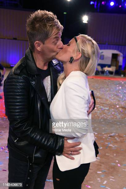 Almklausi and his wife Maritta Krehl attend the Promi Big Brother final at MMC Studios on August 23 2019 in Cologne Germany