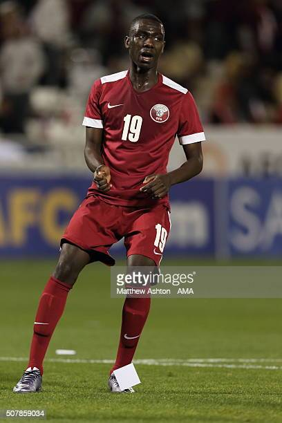 Almoez Ali of Qatar during the AFC U23 Championship 3rd/4th Playoff match between Iraq and Qata at the Jassim Bin Hamad Stadium on January 29 2016 in...