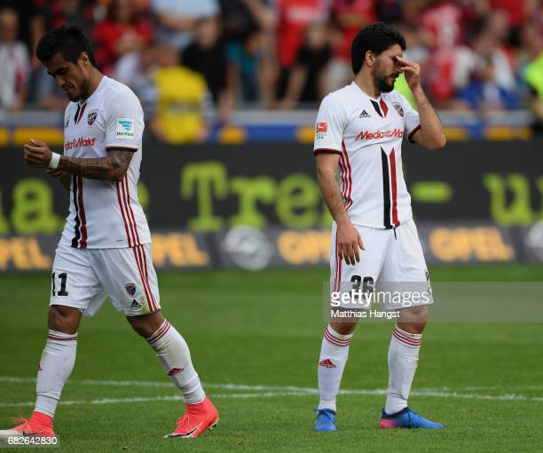 Almog Cohen of Ingolsatdt shows his disappointment after the Bundesliga match between SC Freiburg and FC Ingolstadt 04 at Schwarzwald-Stadion on May...