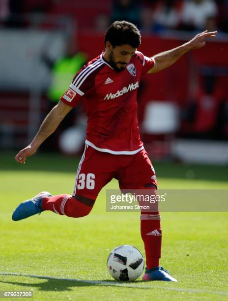Almog Cohen of Ingolstadt in action during the Bundesliga match between FC Ingolstadt 04 and Bayer 04 Leverkusen at Audi Sportpark on May 6 2017 in...