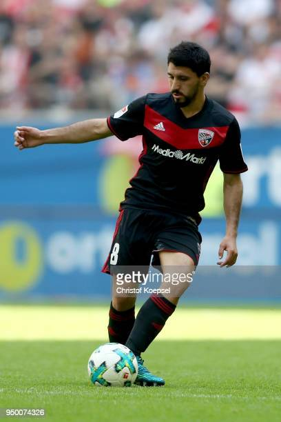 Almog Cohen of Ingolstadt runs with the ball during the Second Bundesliga match between Fortuna Duesseldorf and FC Ingolstadt 04 at EspritArena on...