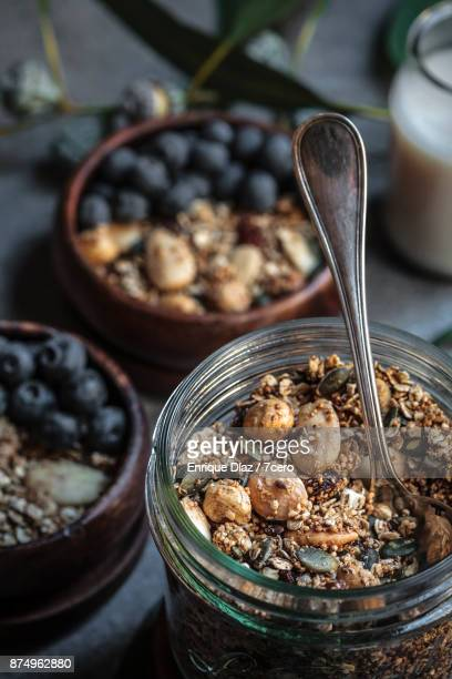 Almond and Amaranth Granola from the jar