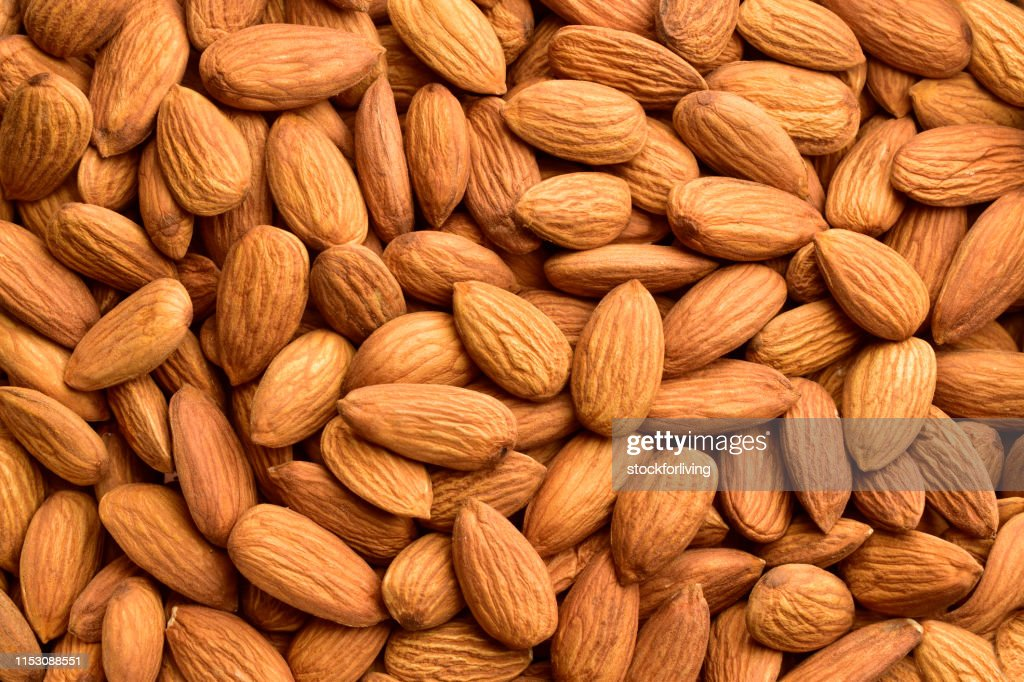 Almond, Backgrounds, Nut - Food, Textured, Harvesting : Stock Photo