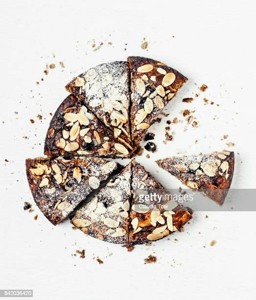 almond cake - nut food stock photos and pictures
