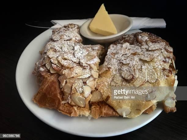 almond croissant - rafael ben ari stock-fotos und bilder