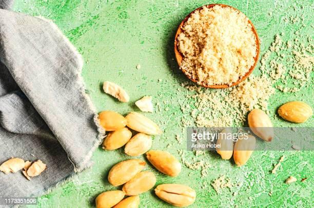almond flour - aniko hobel stock pictures, royalty-free photos & images