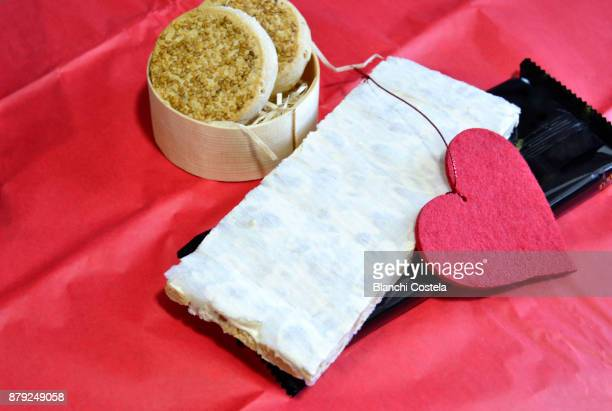 almond nougat and christmas sweets - marzipan stock pictures, royalty-free photos & images