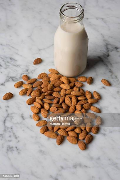Almond nuts and almond milk
