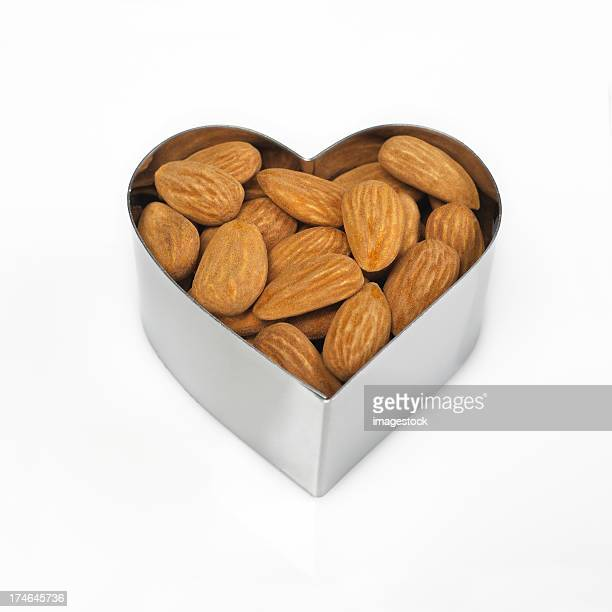 Almonds in heart shaped lag