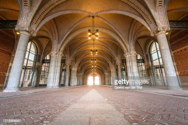 Almost deserted tunnel under the Rijksmuseum in Amsterdam during a weekday morning following the advice of the Dutch government to stay at home for...