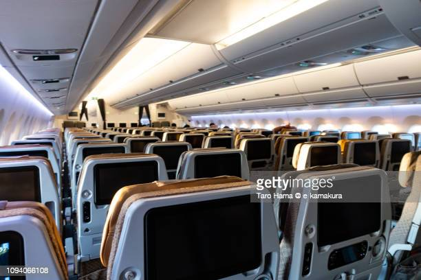 Almost no passengers in the airplane