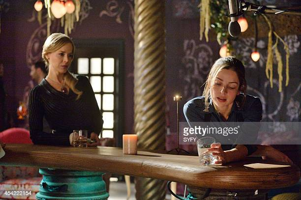 DEFIANCE I Almost Prayed Episode 213 Pictured Julie Benz as Amanda Rosewater Anna Hopkins as Jessica Berlin Rainer