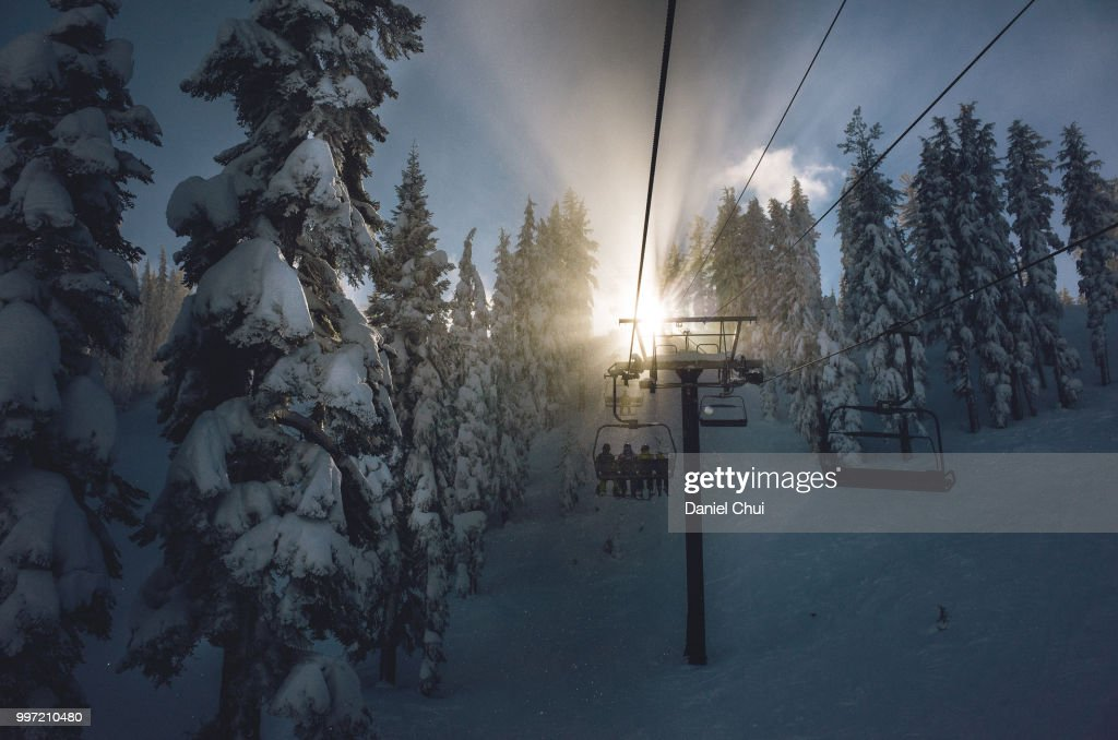 Almost There, Mt. Rose, Nevada : Stock Photo