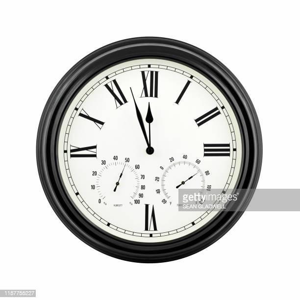 almost twelve o'clock - algarismo romano imagens e fotografias de stock
