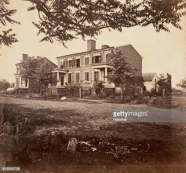 Almost two years after the battle three houses still exhibit damage suffered during the Battle of Fredericksburg in November 1862