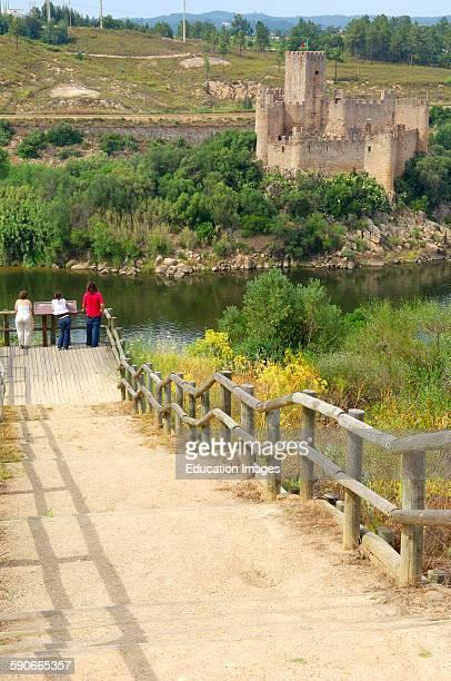 Almourol Templar Castle and River Tejo Ribatejo District Near Tomar Portugal Europe