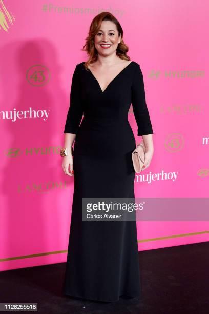 Almudena Alberca attends 'MujerHoy' awards 2019 at Casino de Madrid on January 30 2019 in Madrid Spain