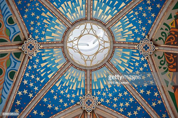 almudena cathedral ceiling, madrid, spain, europe. - pop art stock pictures, royalty-free photos & images