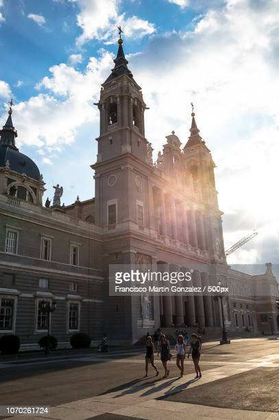 MADRID - SEPTEMBER 08: Almudena Cathedral exterior view on September 08, 2013 in Madrid, Spain. Sant
