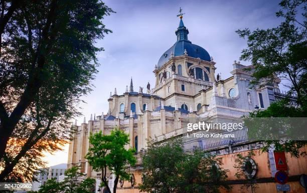 almudena cathedral in madrid, spain - アルムデナ大聖堂 ストックフォトと画像