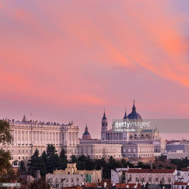 Almudena Cathedral, Royal Palace in Madrid, Spain