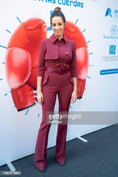 Almudena Cid asister the preset of the campaign Put lung cancer against the ropes in the Plaza de Callao in Madrid on November 16 2018 in Madrid Spain