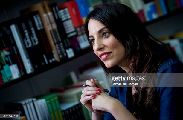 Almudena Cid attends during the book fair in Madrid on May 26 2018 in Madrid Spain