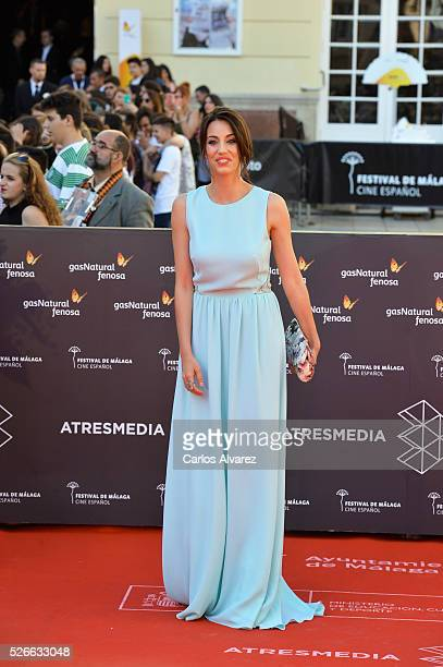 Almudena Cid attends Nuestros Amantes premiere at the Cervantes Teather during the 19th Malaga Film Festival on April 30 2016 in Malaga Spain