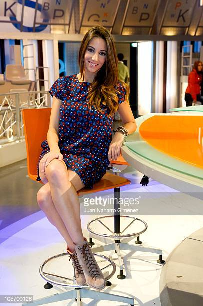 Almudena Cid attends Telecinco Celebrates 'Pasapalabra' 100th episode at Estudios Telecinco on October 19 2010 in Madrid Spain