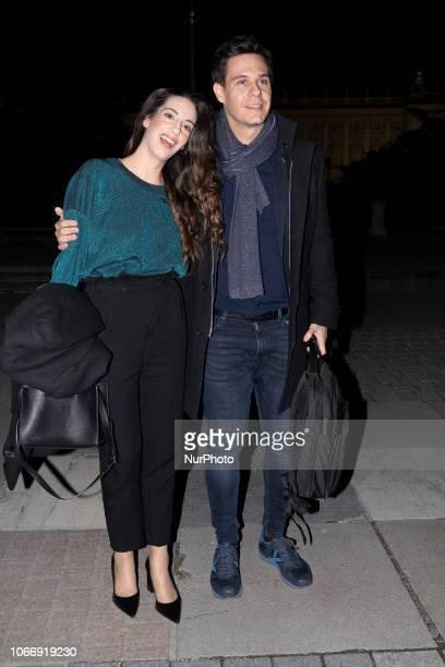 Almudena Cid Christian Gálvez attends the premiere of Turandot in Teatro Real of madrid on November 30 2018 in Madrid Spain
