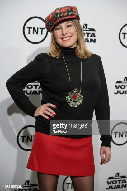 Almudena Dicenta attends the 'Vota Juan' tv serie premiere at Capitol Cinema in Madrid Spain on Jan 24 2019