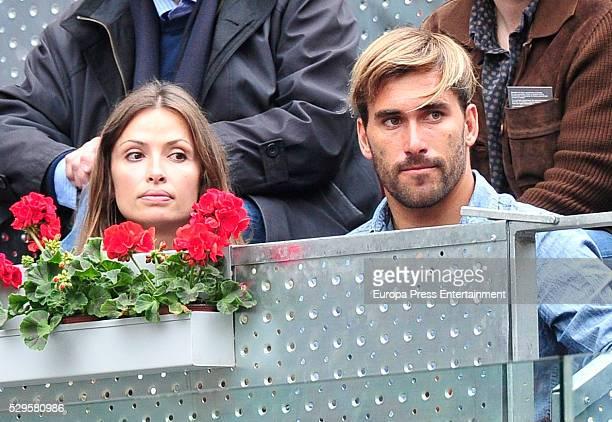 Almudena Fernandez and Aritz Aranburu attend the final match during the Mutua Madrid Open tennis tournament at La Caja Magica on May 8 2016 in Madrid...