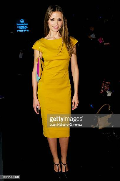 Almudena Fernandez attends a fashion show during the Mercedes Benz Fashion Week Madrid Fall/Winter 2013/14 at Ifema on February 20 2013 in Madrid...