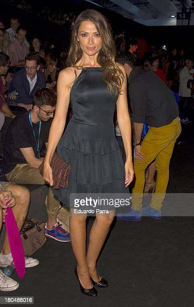 Almudena Fernandez attends a fashion show during the Mercedes Benz Fashion Week Madrid Spring/Summer 2014 on September 13 2013 in Madrid Spain