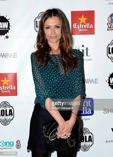 Almudena Fernandez attends a photocall for 'Show Me Your Green Talent' event at the Hotel W on May 3 2012 in Barcelona Spain