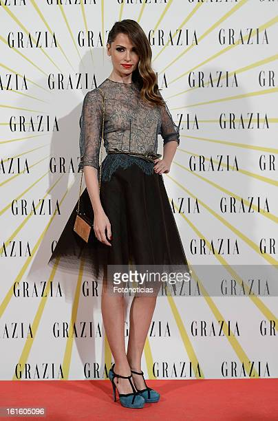 Almudena Fernandez attends Grazia Magazine launch party at the Circo Prize Theater on February 12 2013 in Madrid Spain