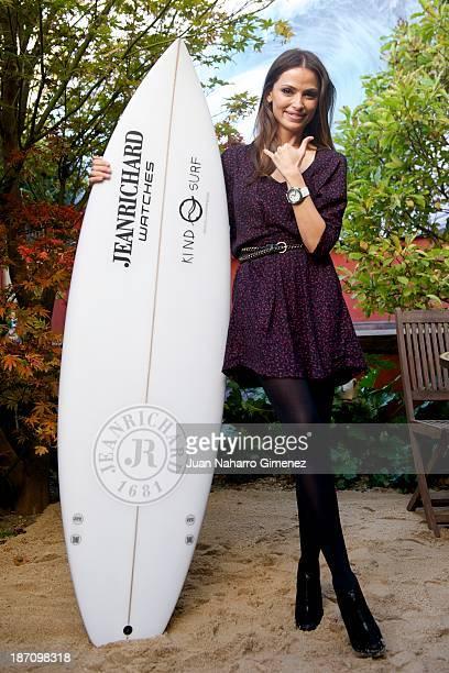 Almudena Fernandez attends Kind Surf Aquascope watch presentation on November 6 2013 in Madrid Spain