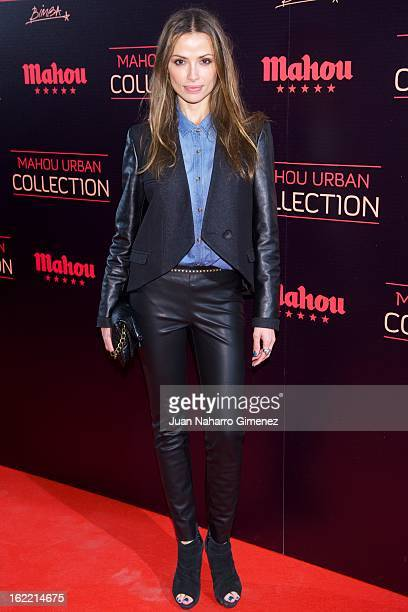 Almudena Fernandez attends Mahou Urban Collection during Mercedes Benz Fashion Week Madrid Fall/Winter 2013/14 at Matadero on February 20 2013 in...