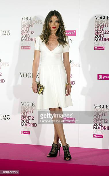 Almudena Fernandez attends Vogue Fashion Night Out Madrid 2013 on September 12 2013 in Madrid Spain