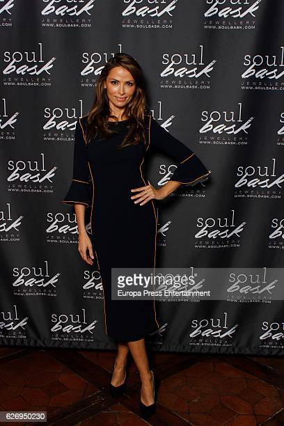 Almudena Fernandez presents the Soulbask Jewellery Presents Charity Rings on November 30 2016 in Madrid Spain