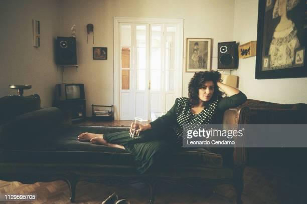 Almudena Grandes Spanish writer Madrilenian Guanda portrait novelist Lecce Italy 11th June 1991