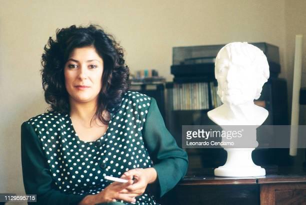 Almudena Grandes Spanish writer Madrilenian Guanda portrait novelist Milan Italy 11th June 1991