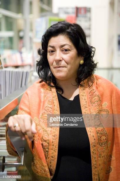 Almudena Grandes Spanish writer portrait Courmayer Italy 4th November 2008