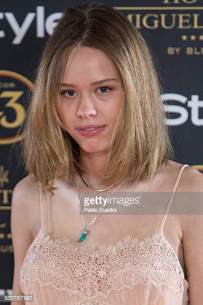 Almudena Lapique attends the 'Live in Colors' photocall during the InStyle Beauty Day at the Miguel Angel Hotel Garden on May 19 2016 in Madrid Spain