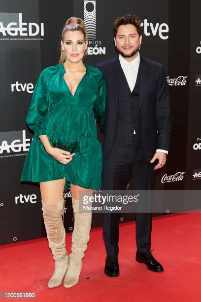 Almudena Navalón and Manuel Carrasco attend Odeon Awards 2020 at Royal Theater on January 20 2020 in Madrid Spain
