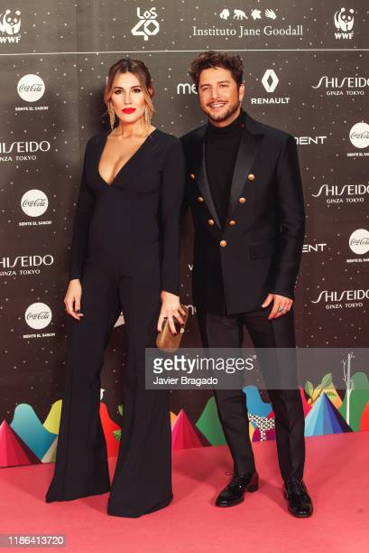 Almudena Navalon and Manuel Carrasco attends 'Los40 music awards 2019' photocall at Wizink Center on November 08 2019 in Madrid Spain