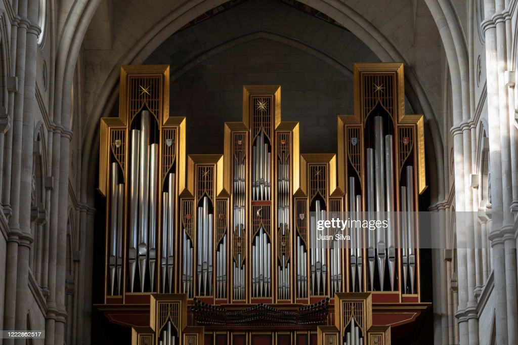 Almudena pipe organ, Madrid, Spain : ストックフォト