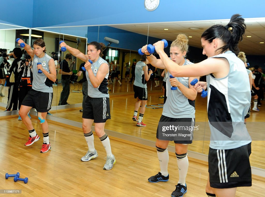 Germany Boxing Exercise With Regina Halmich - FIFA Women's World Cup 2011