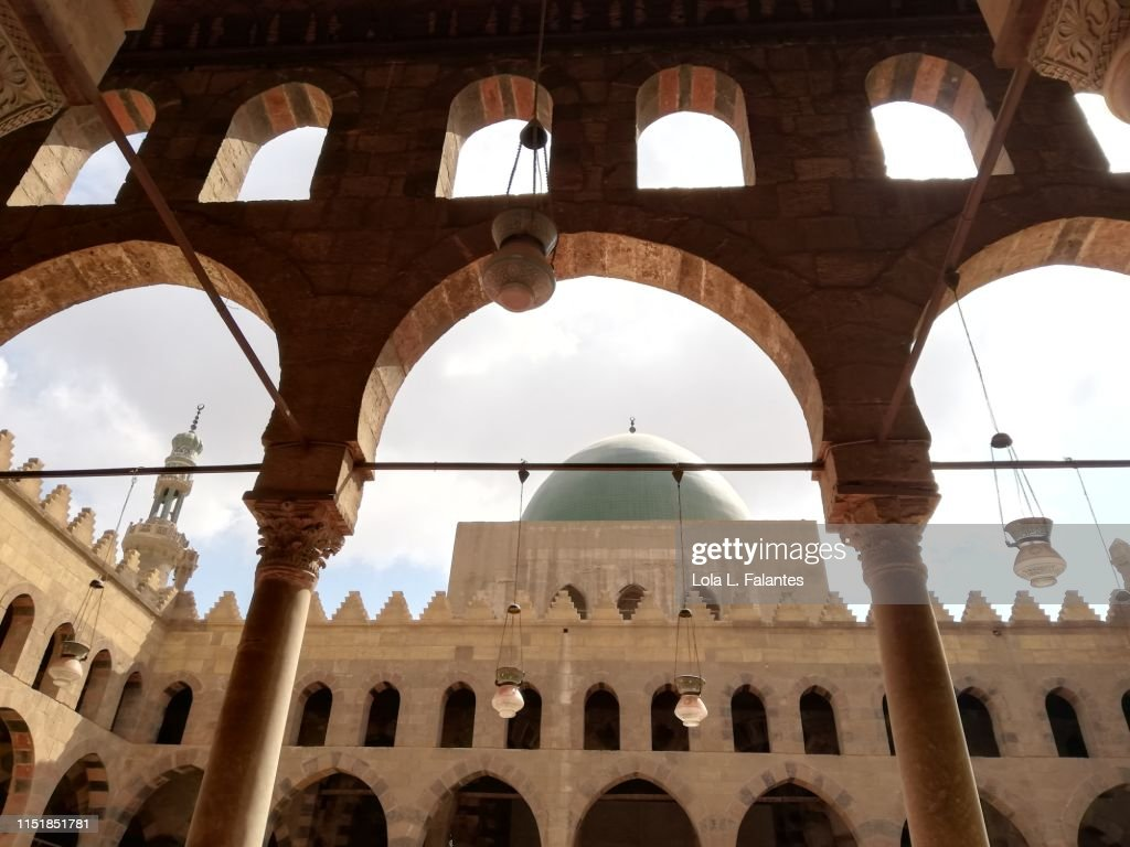 Al-nasir muhammad mosque courtyard, Cairo : Foto de stock